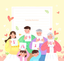 Family Day Illustration