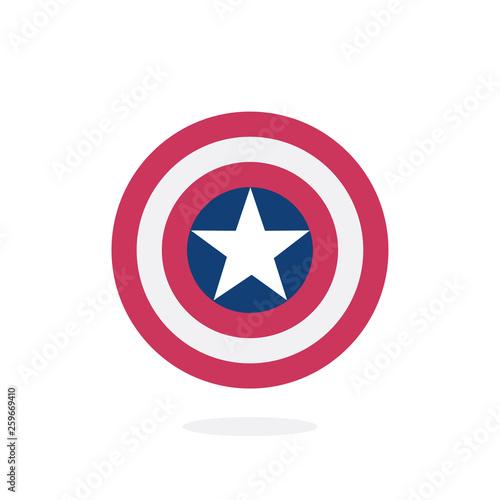Photo  Shield with a star, superhero shield