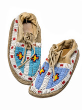 Pearl-embroidered Moccasins Of...