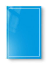 Closed Blue Blank Book With Fr...