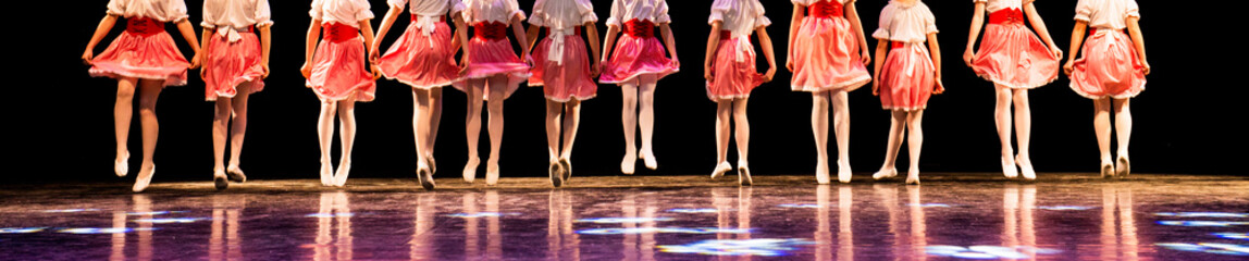 Young dancers on the stage