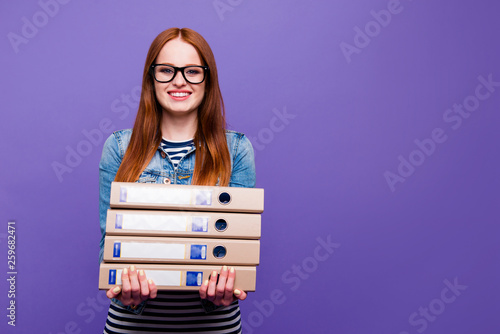 Photo Portrait of her she nice-looking attractive charming cute lovely brainy cheerful