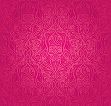 Retro Vector Pattern Wallpaper Background Fashion Invitation Design