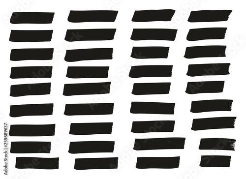 Fotografie, Obraz  Tagging Marker Medium Lines High Detail Abstract Vector Background Set 57