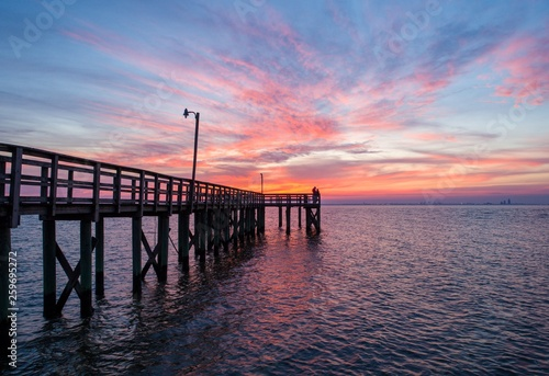 Sunset over Mobile Bay on the Alabama Gulf Coast
