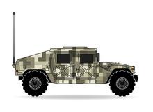 U.S. Army Jeep Camouflage Pixe...