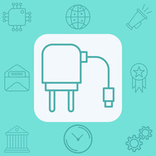 Charging Adapter Vector Icon Sign Symbol