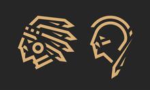 Native American Logo, Chief An...
