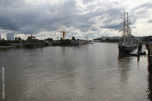 Canvas Prints Antwerp The river Loire in Nantes (France)