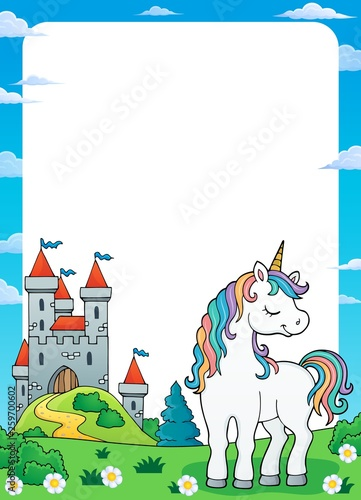 Dreaming unicorn theme frame 1
