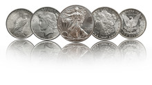 United States Silver Coins Silver Eagle, Morgan And Peace Dollar
