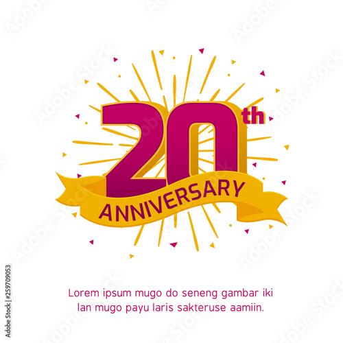 Fotografía  20th anniversary logo badge