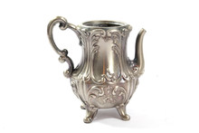 Vintage Metal Ornate Tea Pot O...