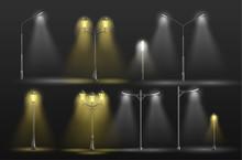 Various City Street Lights Glo...