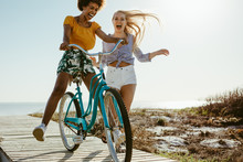 Cheerful Girls Having Fun With...