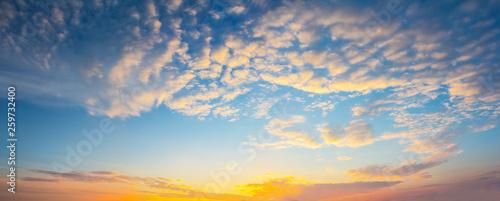 Montage in der Fensternische Landschaft evening sky with clouds
