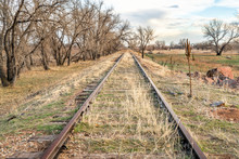 Abandoned Railroad Tracks In C...