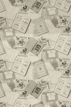 Background Of Old Newspapers. Background Texture, Top View