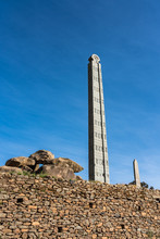 The Northern Stelae Park Of Aksum, Famous Obelisks In Axum, Ethiopia