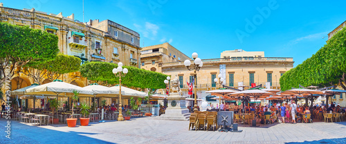Panorama of Republic Square, Valletta, Malta