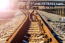 Narrow Gauge Train Tracks Pass...
