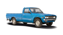 Classic Japanese Pickup Truck Isolated