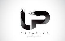 LP Letter Design With Brush St...