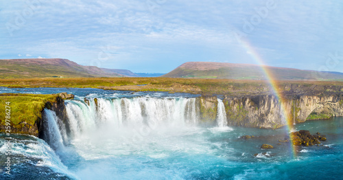 Foto auf Gartenposter Wasserfalle A view of Godafoss, one of most beautiful waterfalls in Iceland