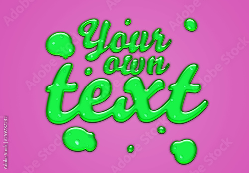 Green Slime Text Effect Buy This Stock Template And Explore Similar