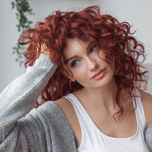 Fotografie, Obraz Very attractive young woman indoors