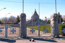 The Mausoleum Of The Heroes Of World War I From Marasesti. A Dog Sleeping At The Entrance