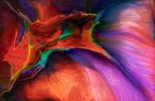 Abstract Flow Of Liquid Paints...