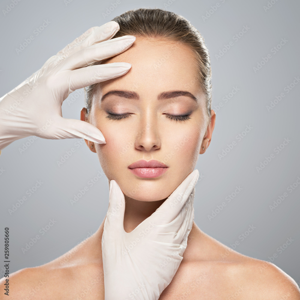 Fototapety, obrazy: skin check before plastic surgery