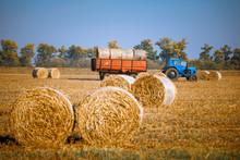 Hay Bail Harvesting In Wonderf...