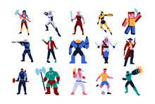 Set Of Video Games Characters ...