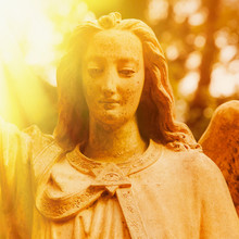 Sculpture Of An Angel With Win...