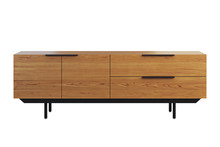 Wooden Sideboard With Retracta...