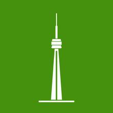 Illustration And Icon CN Tower - Toronto Ontario