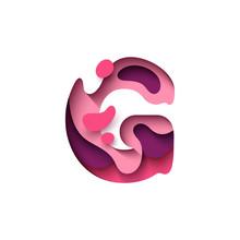 Paper Cut Letter G. Design 3d ...