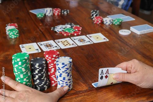 Poker texas Canvas Print
