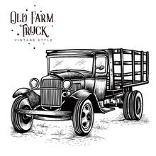 Old Farm Truck Vintage Style