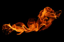 Movement Of Fire Flames Isolat...