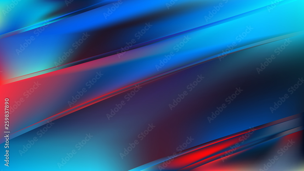 Fototapety, obrazy: Abstract Red and Blue Diagonal Shiny Lines Background
