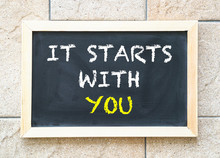 It Starts With You, Words On Blackboard