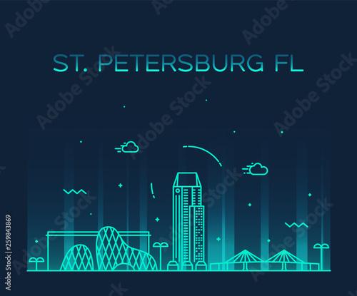 Photo  St Petersburg skyline Pinellas Florida USA vector