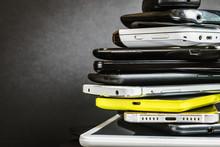 Old And Broken Smartphones And...