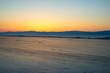 Winter sunset over Lake Baikal