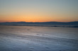 Winter sunset over Lake Baikal