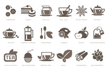 Tea Time Linear Icons Set, Coo...