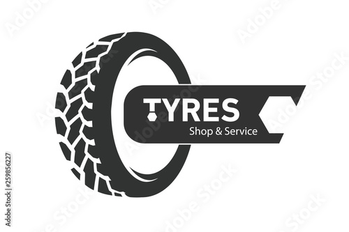Fotografía Tyre Shop Logo Design